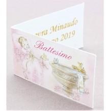 Bigliettini Battesimo Femminuccia Stampa Omaggio Bomboniera
