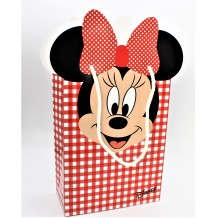 SHOPPERS BUSTA  MINNIE DISNEY  ROSSO