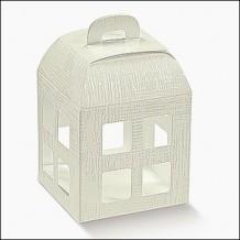 Scatola Confezione Regalo Lanterna Bomboniera Matrimonio 8x8x10.5 cm