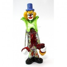 Clown Scultura Collection Vetro di Murano h26cm Made in Italy