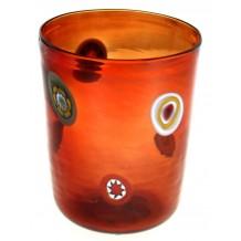 Bicchiere Goto Veneziano Murrine Millefiori Rosso Murano Glasses Made in Italy