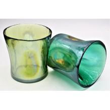 Set Coppia Bicchieri 2 Colori Misti Murano Collection