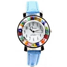 Orologio Donna Celeste Scuro watch in Vetro di Murano e antica Murrina Millefiori