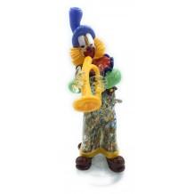 Clown in Vetro di Murano con Murrine Millefiori e Oro Zecchino Made in Italy…
