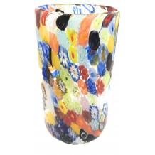 Vaso Fazzoletto Murrine Millefiori  Murano Glasses Made in Italy h 15 diam 17