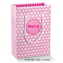 BORSA SHOPPER HAPPY MADE IN ITALY