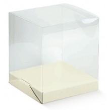 Scatola trasparente pvc cm30x30 Alta 30 - Confezione Regalo Matrimonio testimoni
