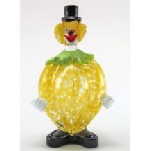 Clown Murano Glass H20cm Made in Italy Pagliaccio Fruit Limone