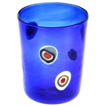 Bicchiere Goto Veneziano Murrine Millefiori Blue Murano Glasses Made in Italy