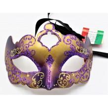 Maschera Veneziana Decorata A Mano Made In Italy